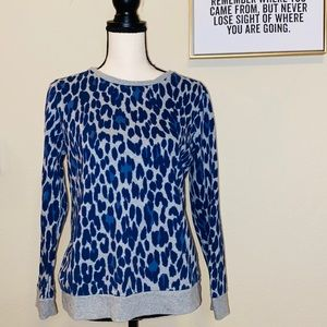 B1G1 Liz Claiborne Blue Cheetah Top